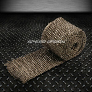 5ft 60 L 2 W Header Manifold Turbo Exhaust Insulating Gold Titanium Heat Wrap