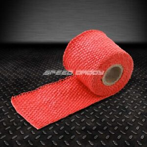 5ft 60 L 2 W Exhaust Header Turbo Manifold Pipe Red Heat Shield Wrap Tape