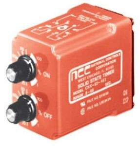National Controls Corp ncc Time Delay Relay Ckk 00005 421