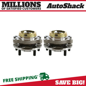 Front Pair 2 Wheel Hub Bearing Assemblies 5 Stud Fits 07 2011 2012 Nissan Altima