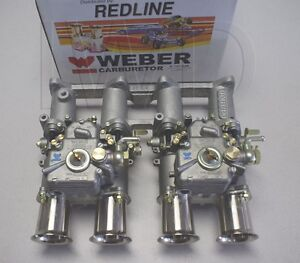 Toyota 2tc Dual 40 Dcoe Weber Side Draft Kit New W Manifold Linkage Carbs