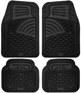 Car Floor Mats For Honda Accord 4pc Set All Weather Rubber Tactical Fit Black