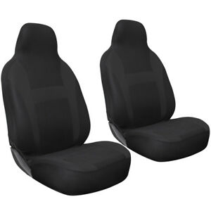 Car Seat Covers For Auto Ford Mustang 2pc Bucket Black W Integrated Head Rest