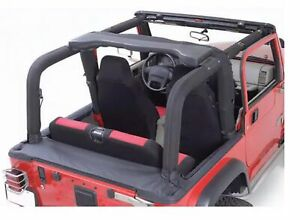 Rugged Ridge 13612 15 Full Roll Bar Cover 2 Piece Kit For 97 02 Jeep Wrangler
