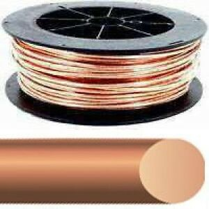 New Southwire Usa Made 4 Awg 4 X 200 Roll Bare Copper Ground Wire 7153224