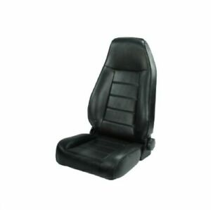 Rugged Ridge 13402 01 Blk High Back Reclinable Front Seat For Jeep Cj