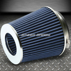 4 6 75 H Cold Short Ram Intake High Flow Cone Blue Air Filter 3 3 5 Reducer
