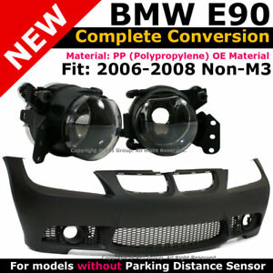 Bmw E90 3 Series 06 08 W O Pdc M3 Style Front Bumper Cover Clear Fog Lights