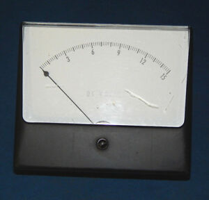 Simpson 0 15 Analog Dc Volts Panel Meter 1000 V