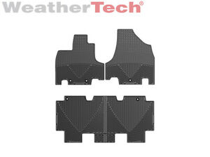 Weathertech All weather Floor Mats For Honda Odyssey 2011 2016 Black
