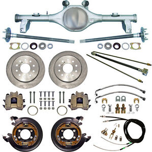 Currie 78 87 Gm G body Rear End Disc Brakes lines parking Brake Cables axles