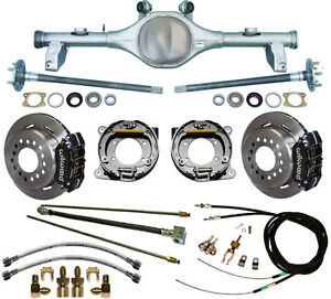 Currie 78 87 Gm G body Rear End Wilwood Disc Brakes lines e brake Cables axles
