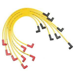 Accel 5048y Yellow Silicone 8 8mm Spark Plug Wire Set W Spiral Core