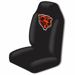 1pcs Official Nfl Chicago Bears High Back Seat Covers Cars Trucks Vans Suvs