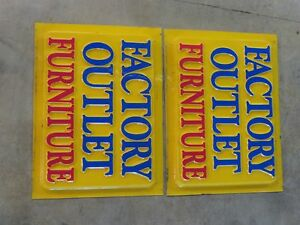 Factory Outlet Furniture Sign Set 4 X 3 In Great Shape