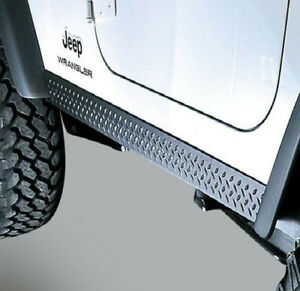Side L Body Armor Rocker Panel Kit Jeep Tj Wrangler 97 06 Rugged Ridge 11650 05
