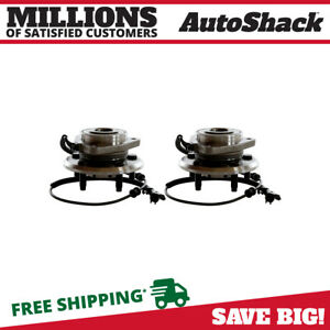 Front Pair 2 Wheel Hub Bearing Assemblies 5 Stud Fits 08 2011 2012 Jeep Liberty