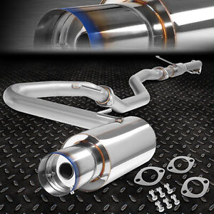 4 Burnt Tip Muffler Racing Catback Exhaust System 05 10 Scion Tc Vvti 2az fe