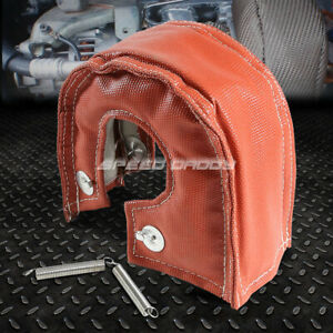 T3 T25 Gt30 Turbo Charger Turbocharger Exhaust Red Heat Shield Blanket Cover