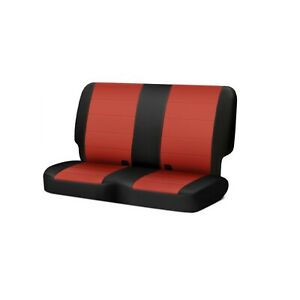 Rugged Ridge 13264 53 Blk Red Neoprene Rear Seat Covers For Jeep Wrangler