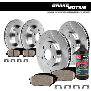 Front Rear Brake Rotors Ceramic Pads For Sebring Avenger Compass Patriot Lancer
