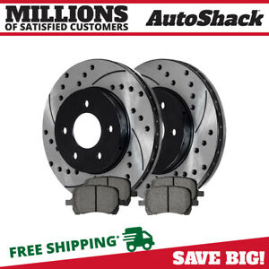 Front 2 Drilled Slotted Rotors 4 Ceramic Pad Fits 06 2008 2011 Chevrolet Hhr