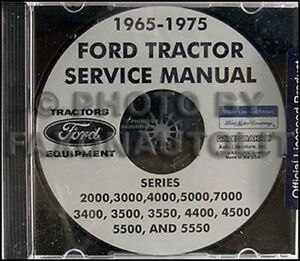 Ford Tractor Shop Manual Cd 2000 3000 4000 5000 7000 Agricultural Repair Service