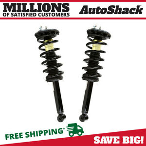 Rear Pair 2 Complete Strut Assembly W Coil Spring Fits 2000 2003 Nissan Maxima