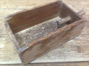 Wooden Wood Press Mold Old Antique Folk Art Hand Made Help What Is It Box