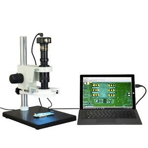 Omax Inspection Zoom 7x 90x Stereo Microscope 1 3mp Usb Camera 56 Led Light