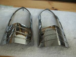 1949 Buick Taillight Chrome Lens Bezel Pr