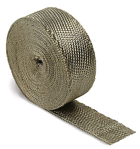Dei 010127 2 Wide X 50 Roll Titanium Exhaust Header Wrap W Lr Technlogy