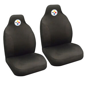 New Nfl Pittsburgh Steelers 2 Front Universal Fit Car Truck Bucket Seat Covers