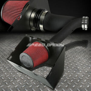 For 02 08 Dodge Ram 4 7 5 7 Hemi Black Wrinkle Coat Cold Air Intake Heat Shield