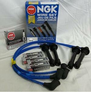 90 91 Acura Integra Ngk Blue Spark Plug Wire Set With Plugs He56 And Bcpr5e11