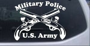 Military Police Cross Pistols Army Car Or Truck Window Laptop Decal Sticker