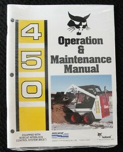Original Bobcat 450 Skid Steer Loader Tractor Operators Manual Minty Sealed