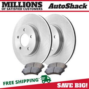 Front 2 Brake Rotors 4 Metallic Brake Pads Fits 2000 2004 2005 Buick Lesabre