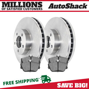 Premium Front Ceramic Brake Pads And Disc Rotors Complete Kit Left Right Pair