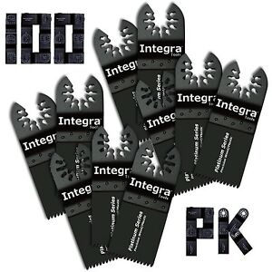 Integra Tools 100pk Japan Wood Plastic Multitool Blades Fits Fein Multimaster