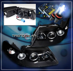 1999 2004 Ford Mustang Halo Projector Headlight Hid 8k Black 2000 2001 2002 2003
