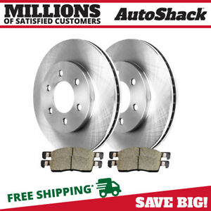 Front 2 New Brake Rotors 4 Ceramic Brake Pads Fits 2003 2006 Ford Expedition