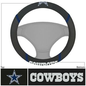 New Nfl Dallas Cowboys Synthetic Leather Car Truck Steering Wheel Cover