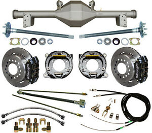 Currie 79 93 Mustang 5 lug Rear End Wilwood Disc Brakes lines cables axles etc