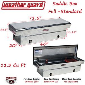 127 0 02 Weather Guard Aluminum Saddle Box 71 Full Standard Truck Toolbox