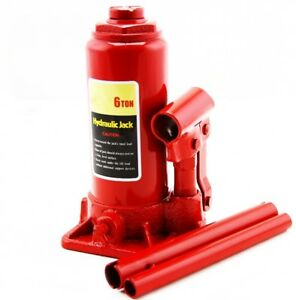 6 Ton Hydraulic Bottle Jack 12000lb Lift Heavy Duty Automotive New Free Shipping