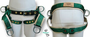 Buckingham Tree Climber Saddle Single Cotton Back With Grommeted Leg Straps