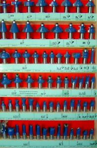 66pc 1 4 Shank Router Bit Set Carbide W Case V Straight Ogee Free Shipping New