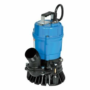 Tsurumi Pumps Submersible Trash Pump 3000 Gph 1 2 Hp 2in hs2 4s