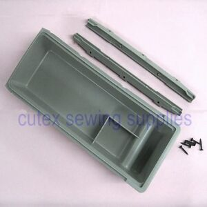 Industrial Sewing Machine Table Mounted Plastic Drawer With Sliders Screws
